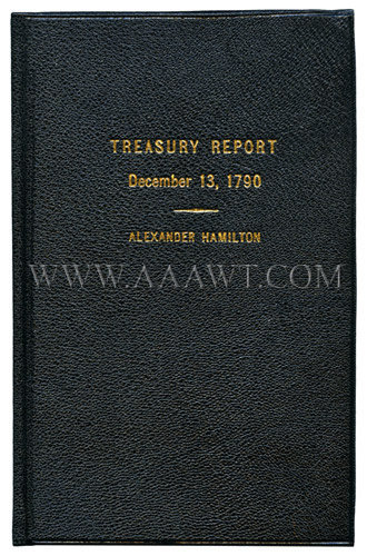 Treasury Report, December 13, 1790, entire view