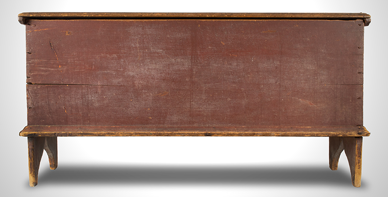 antique blanket chest or board chest, New England 1740