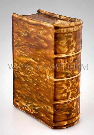 Bennington Book Flask, entire view