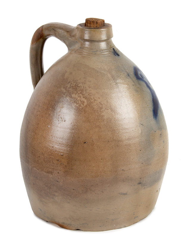 Antique Jugs, Crocks, Stoneware, Bennington, Cobalt Decoration