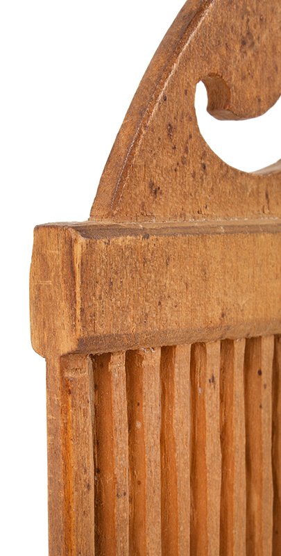 Tape Loom, Carved from the Solid, Great Patina New England, circa 1800 detail