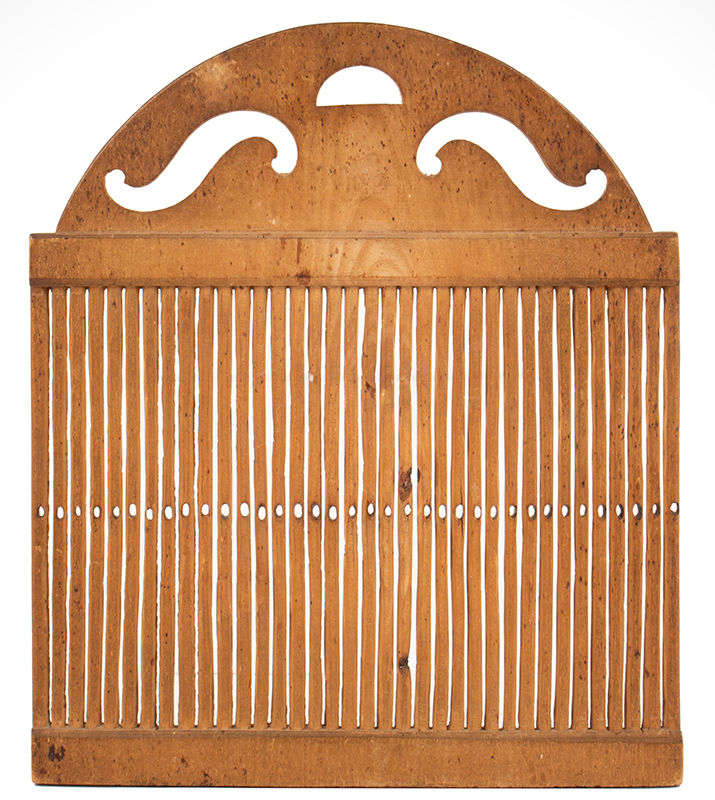 Tape Loom, Carved from the Solid, Great Patina New England, circa 1800 entire