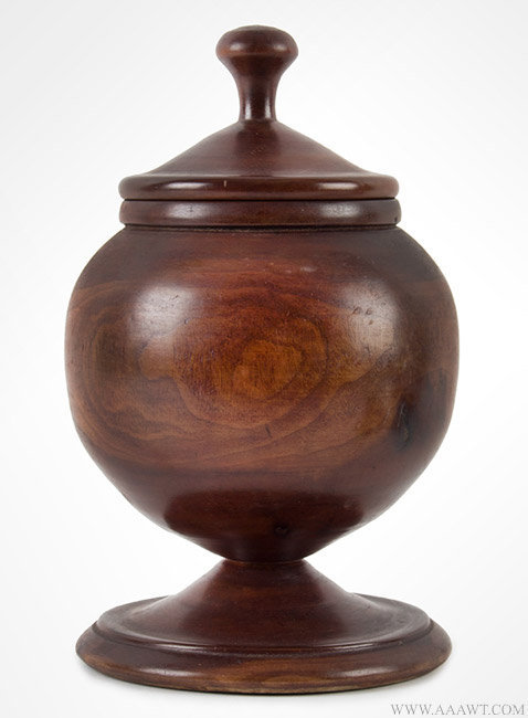 Treen, Fruitwood Compote, Turned and Covered