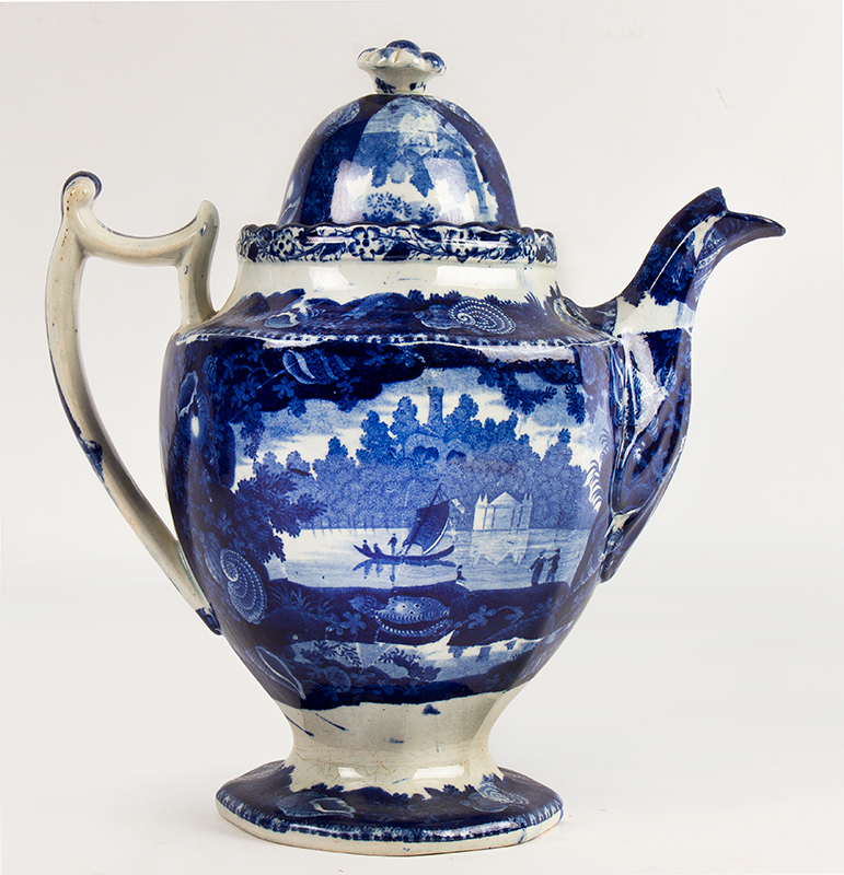 Staffordshire Transferware, Historical Dark Blue, 