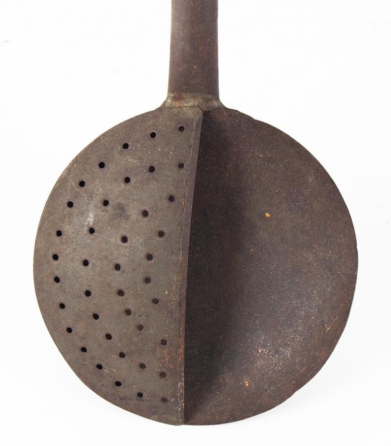 Half Strainer Ladle, Scumming or Skimmer Ladle, detail view
