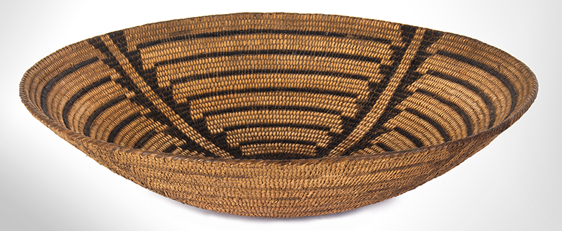 Pima Coiled Tray, Papago Basket Arizona, entire view