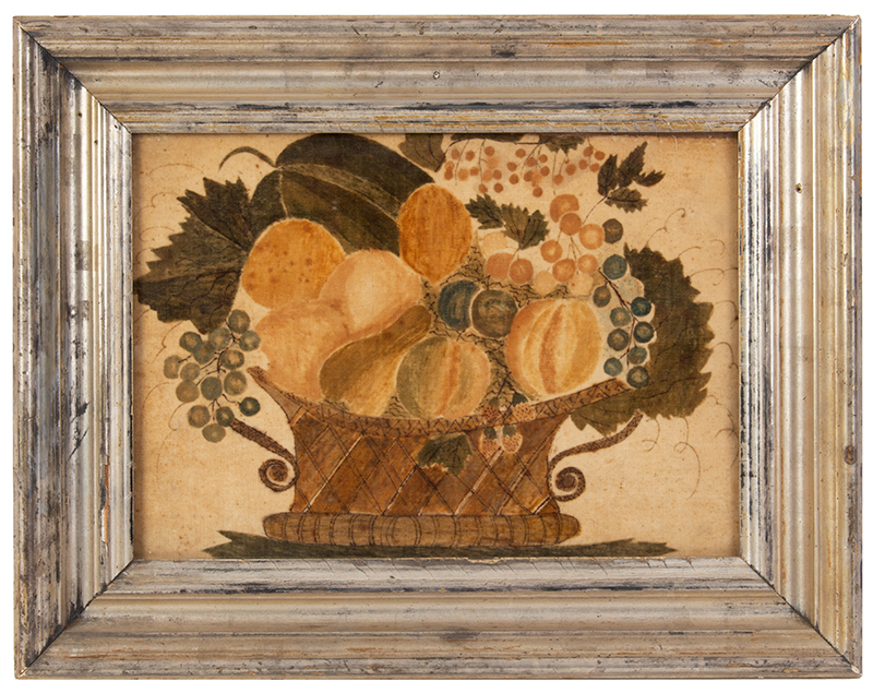Schoolgirl Theorem on Velvet, Basket of Fruits, entire view