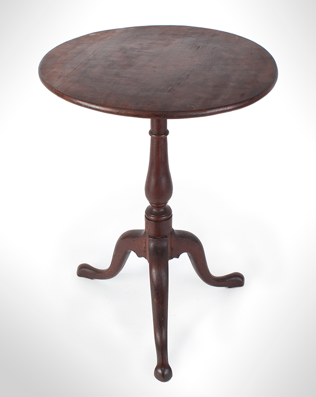 Chippendale Candlestand, Northshore, Massachusetts Possibly Newburyport, in the circle of Joseph Short, entire view 1