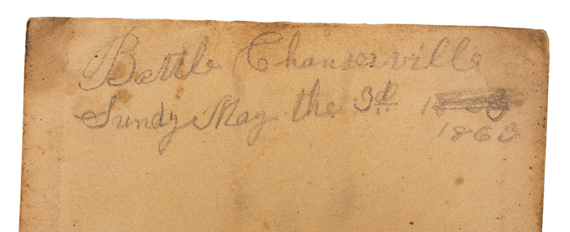 Identified Civil War Pocket Bible, New Testament American Bible Society, 1862, New York, detail view