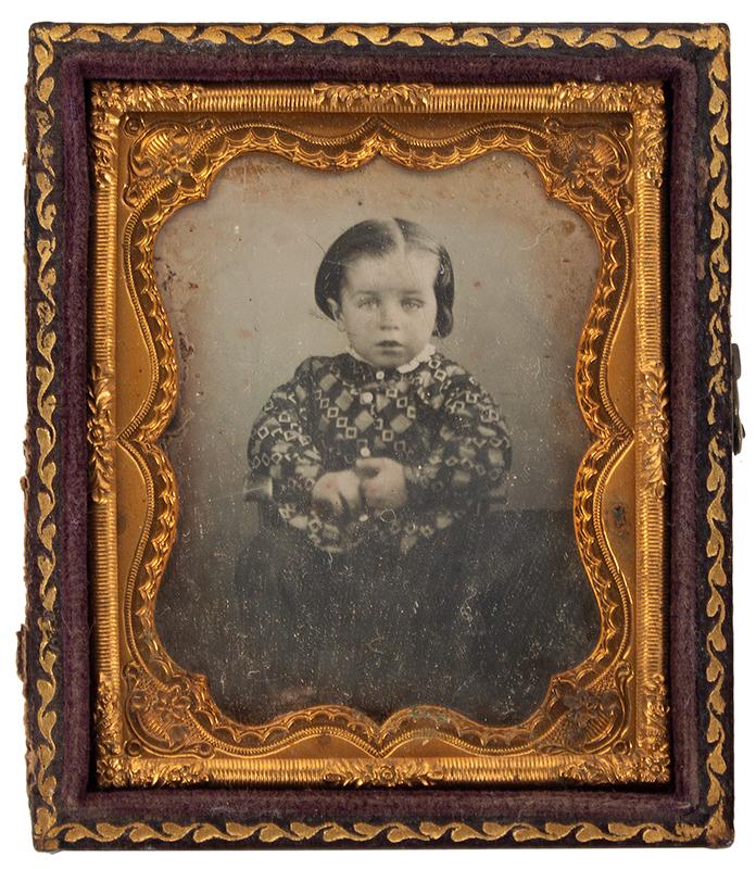 Daguerreotype, Little Girl Seated in Chair, Nonpareil Matt, Ninth Plate, entire view