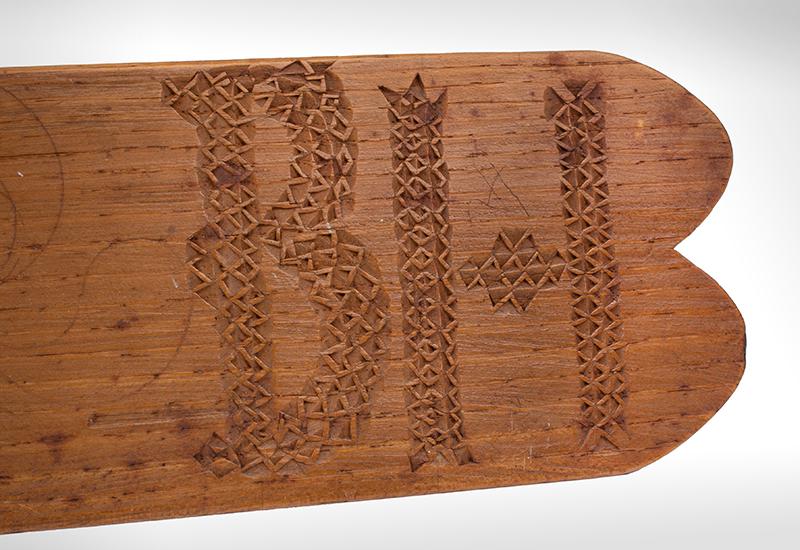 Busk, Chip Carved, detail