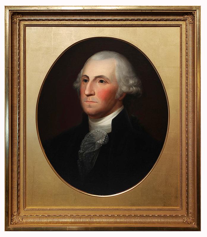 George Washington: Fine, Portrait Attributed to Philadelphia Artist Robert Street (1796-1865), entire view