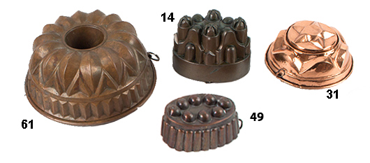 Copper Molds, group view