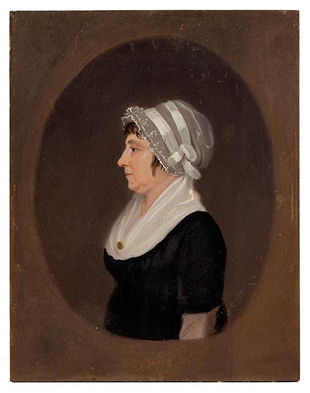 Jacob Eichholtz (1776-1842) Profile Portrait of Lady, Lancaster, Pennsylvania, entire view