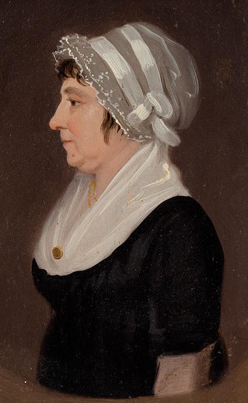 Jacob Eichholtz (1776-1842) Profile Portrait of Lady, Lancaster, Pennsylvania, entire view sans frame