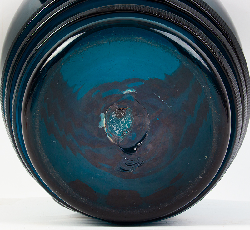 Extremely Rare Georgian Drinking Glass, Daumenglas, Thumb Beaker & Cover England, bottom view