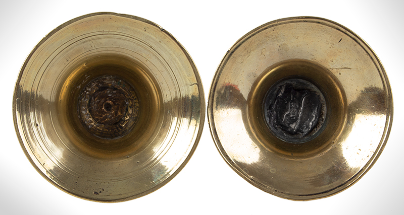 Pair, Dutch Capstan Mid-Drip Candlesticks, Small Size, entire view 3