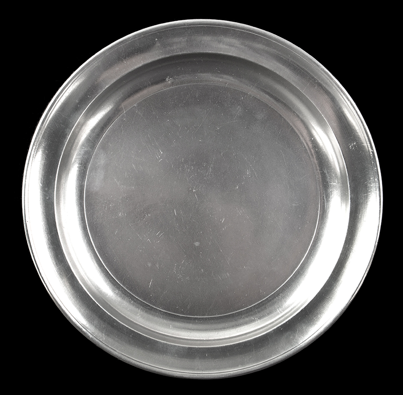 Narrow Rim Pewter Plate, Made by Boardman, and Co. (Boardman & Hart), entire view 1