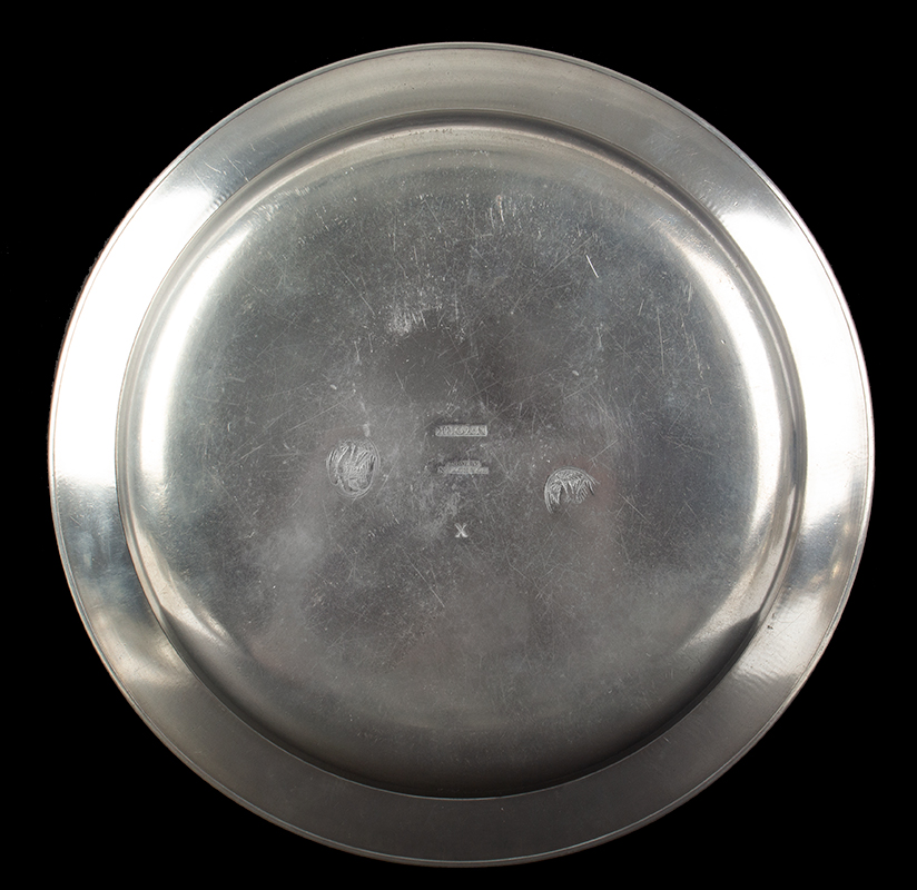 Narrow Rim Pewter Plate, Made by Boardman, and Co. (Boardman & Hart), entire view 2