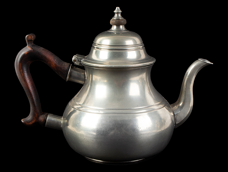 A Fine John Townsend Pewter Pot, Quart, Scarce Mark The quality of Townsend's fine work and his designs is always excellent…, entire view