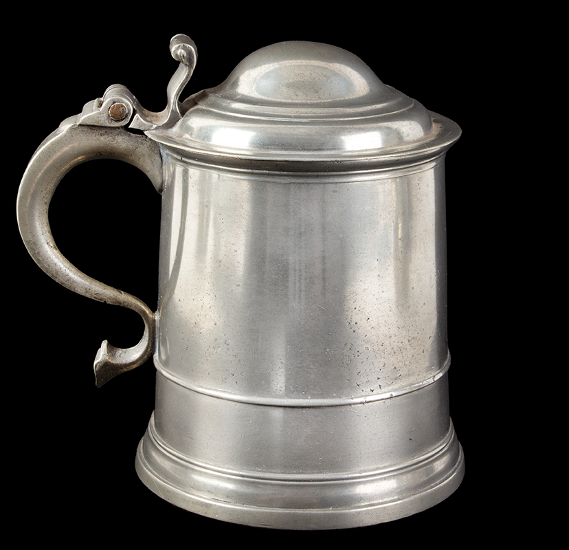 William Eddon Double Dome Lid Pewter Tankard, entire view 2