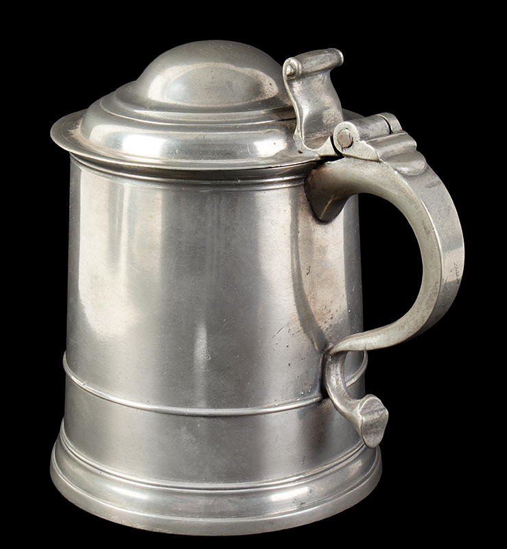 William Eddon Double Dome Lid Pewter Tankard, entire view 3