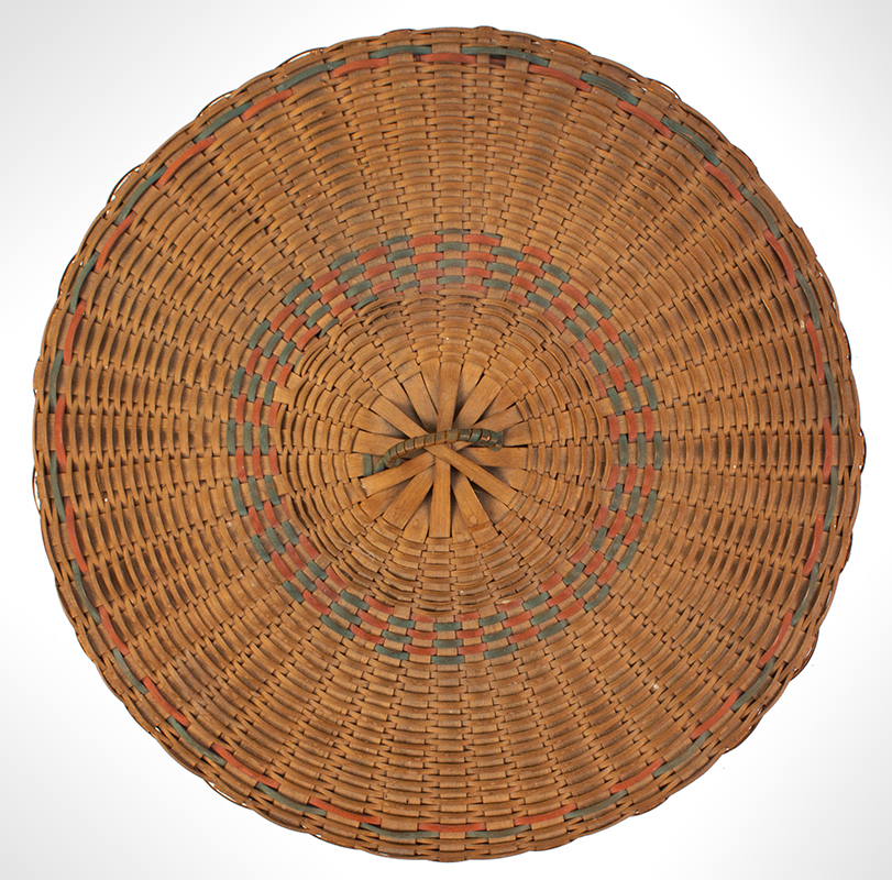 Native American Covered Sewing or Work Basket, top