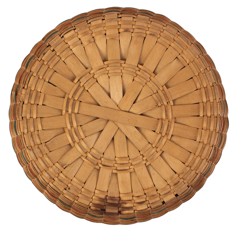 Native American Covered Sewing or Work Basket, bottom view