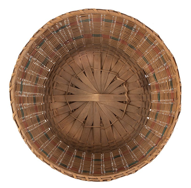 Native American Covered Sewing or Work Basket, interior