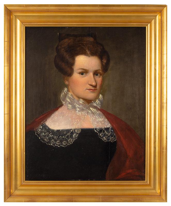 American School, 19th Century Portrait of Jerusha Spencer, Hartford, Connecticut, entire view 1
