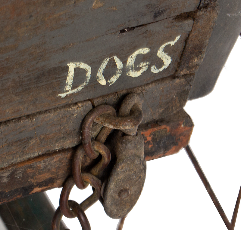 Antique, Jail Wagon or Dog Catcher's Wagon, Goat Cart, Rutland County Probably Vermont, detail view 6