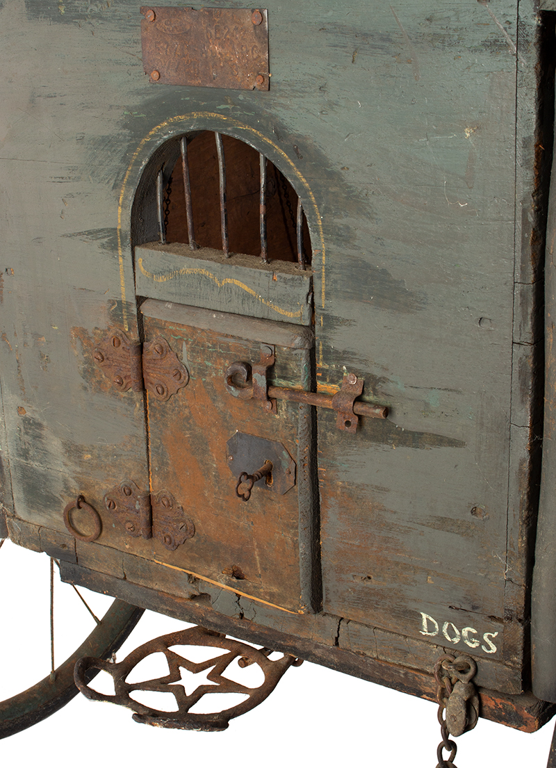 Antique, Jail Wagon or Dog Catcher's Wagon, Goat Cart, Rutland County Probably Vermont, detail view 2