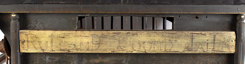 Antique, Jail Wagon or Dog Catcher's Wagon, Goat Cart, Rutland County Probably Vermont, detail view 4