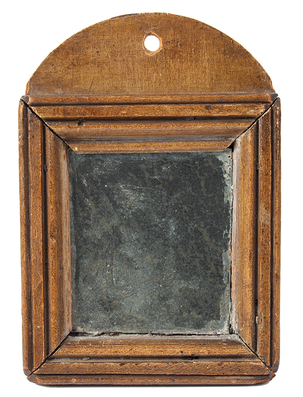Early Fragment or Courting Mirror, Original Paint, New England, entire view 1