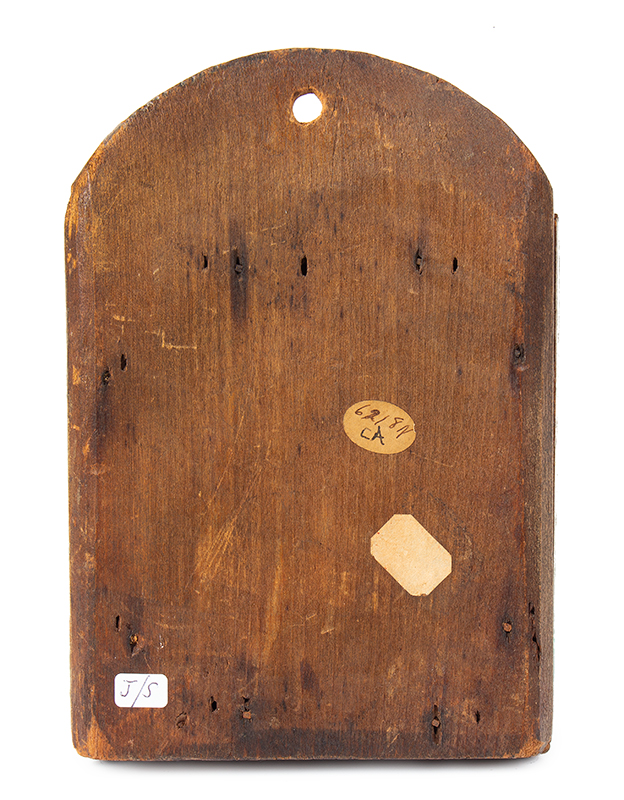 Early Fragment or Courting Mirror, Original Paint, New England, entire view 2