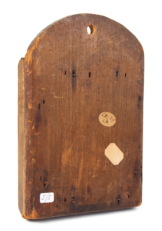 Early Fragment or Courting Mirror, Original Paint, New England, entire view 3