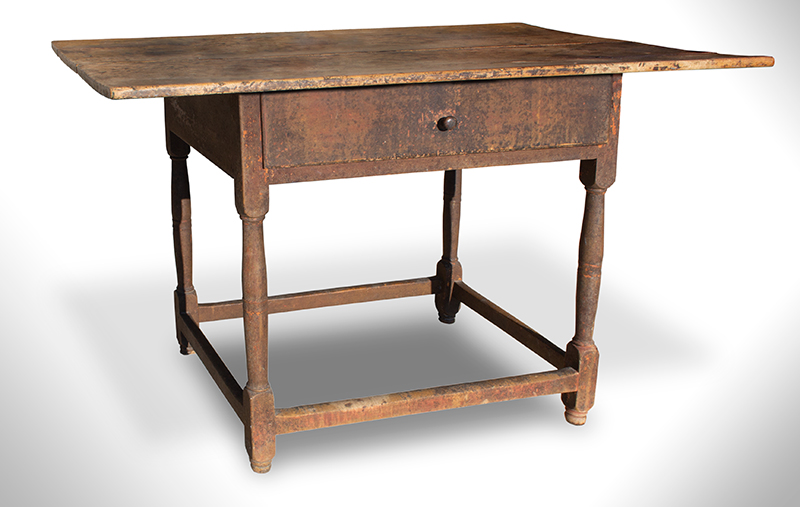 Queen Anne Tavern Table, New England, Original Surface, All Maple, entire view 1