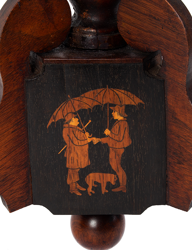 Marquetry Decorated Folk Art Table, A MASTERPIECE, detail view 8