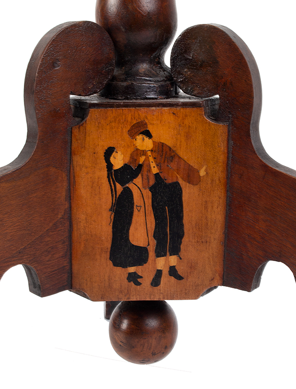 Marquetry Decorated Folk Art Table, A MASTERPIECE, detail view 10
