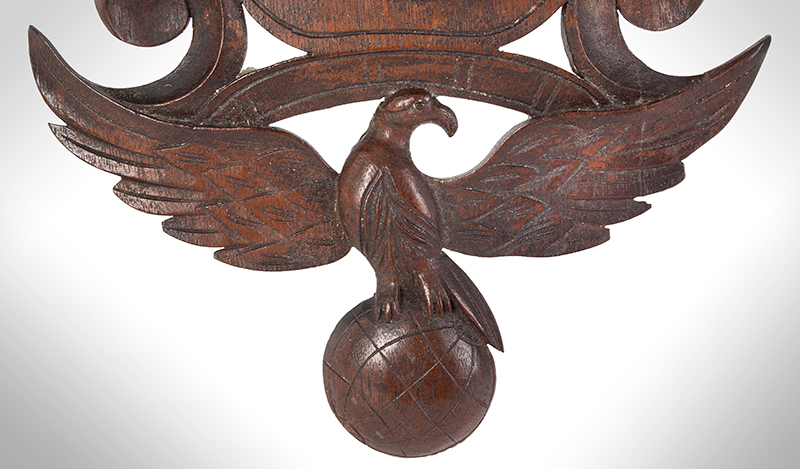 John Haley Bellamy Carved Wall Bracket (Shelf), Patriotic, Full Portrait, Eagle, Bunting Kittery, Maine and Portsmouth, New Hampshire (1836-1914) Possibly Titcomb & Bellamy, detail view 4
