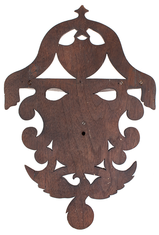 John Haley Bellamy Carved Wall Bracket (Shelf), Patriotic, Full Portrait, Eagle, Bunting Kittery, Maine and Portsmouth, New Hampshire (1836-1914) Possibly Titcomb & Bellamy, back view