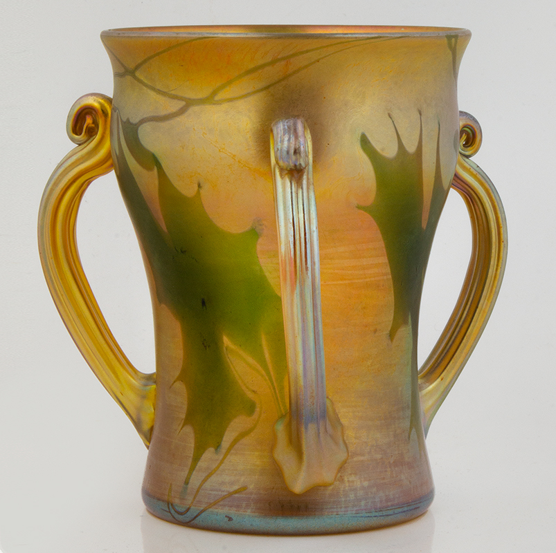 Tiffany Decorated favrile Glass Loving Cup, entire view