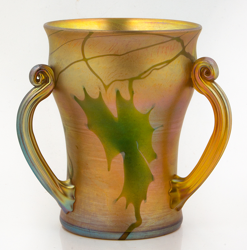 Tiffany Decorated favrile Glass Loving Cup, entire view 2