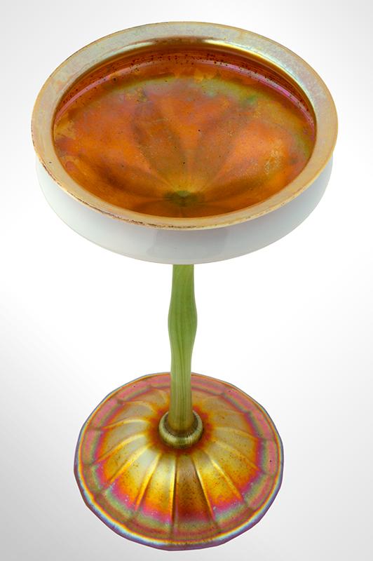 Tiffany Studios Flower Form Iridescent Vase, entire view 3