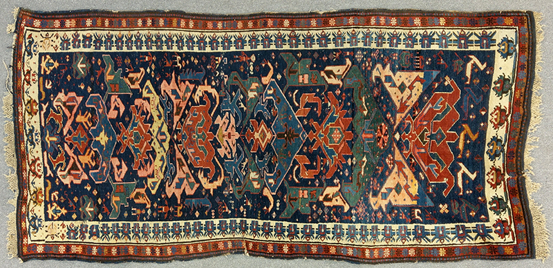 Antique Seichour Oriental Rug, Bidjov Design, entire view