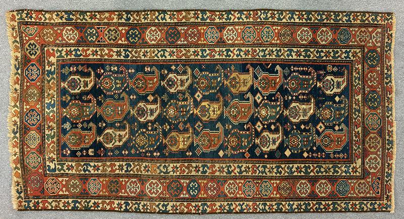 Shirvan Semi-Antique Oriental Rug Southwest Persia, entire view