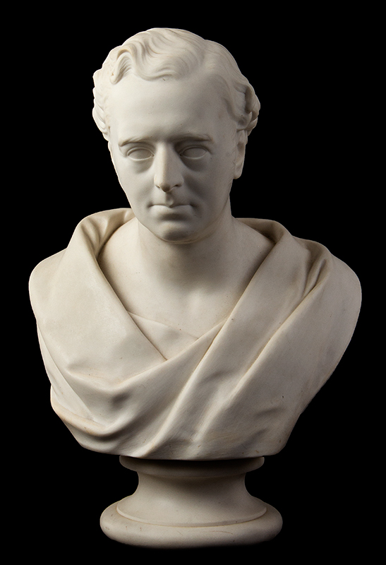 Parian Style Wedgewood Bust of Robert Stephenson After Edward William Wyon), Mid-19th Century, entire view 1
