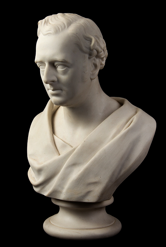 Parian Style Wedgewood Bust of Robert Stephenson After Edward William Wyon), Mid-19th Century, entire view 2