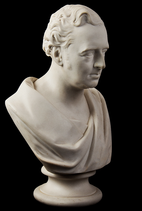Parian Style Wedgewood Bust of Robert Stephenson After Edward William Wyon), Mid-19th Century, entire view 3
