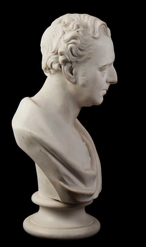 Parian Style Wedgewood Bust of Robert Stephenson After Edward William Wyon), Mid-19th Century, entire view 4